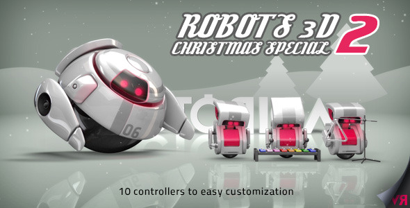 Robots cristmas 3dfootage.ru