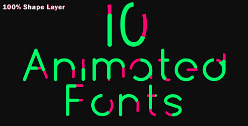 10 Animated Fonts Preview Image