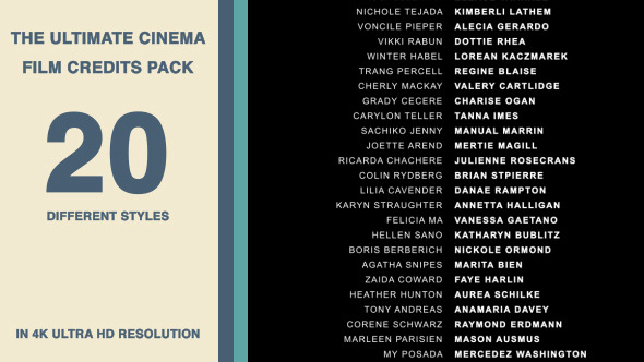 20 Cinematic Film Credits Pack image preview