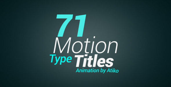 Motion Type Title image