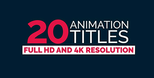 20 Title Animation Preview