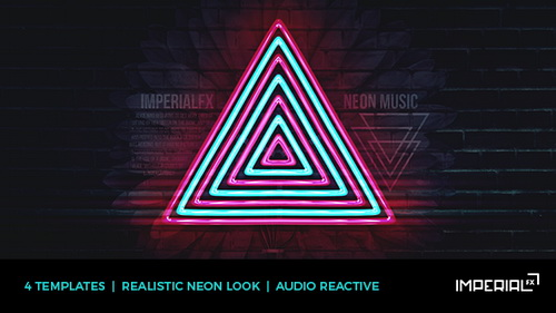 Neon Music Visualizer Audio React Image