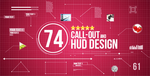 74 Call Out and Hud Design Pack