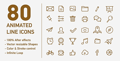 80 Animated Line Icons