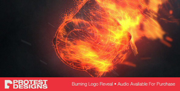 Burning logo reveal preview image