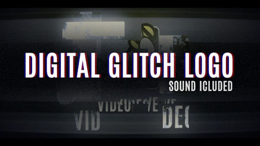 Digital Glitch Logo