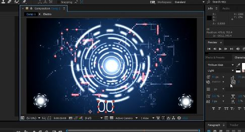 Futuristic design in After effects cc 2015 tutorial