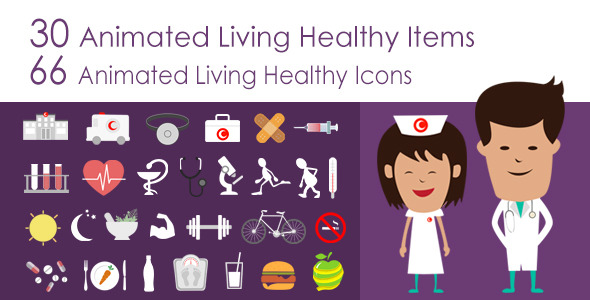 Living Healthy Infographics Image