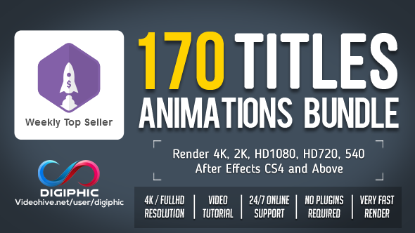 Preview Image 170 Titles Animations Bundle
