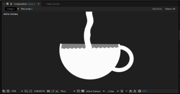 Tea cup After effects motion graphics tutorial