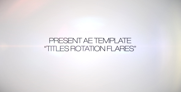 Titles Rotation Flare
