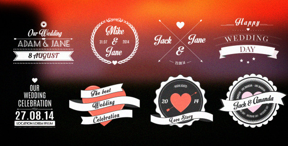 Wedding Romantic Titles Pack image