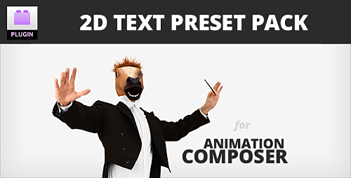 2D Text Preset Pack for Animation Composer Plug in Preview