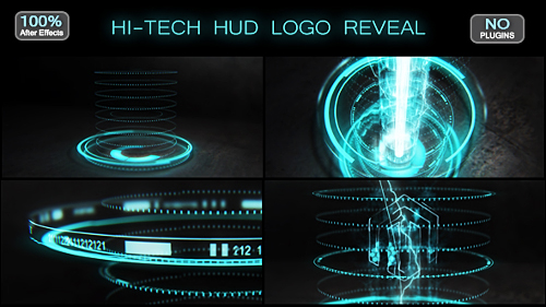 Hi tech HUD Logo Reveal Image