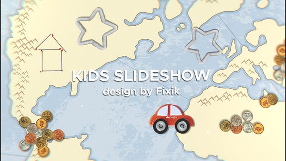 Kids Slideshow II After Effects Template Image