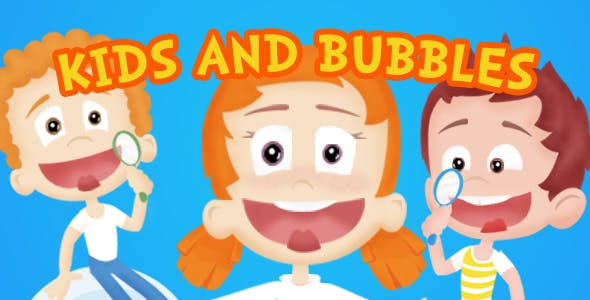 Kids and Bubbles Cartoon Intro Image