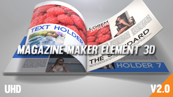 Magazine Maker Element 3D Image
