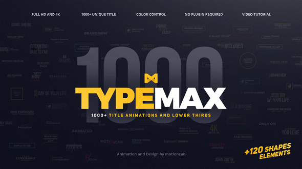 TypeMax 1000 Titles and Lower Thirds image
